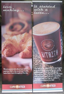 Pop Up Banner - Caffe Ritazza - Eastcote-Signs