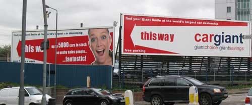Cargiant Advertising Hoarding