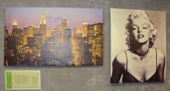 Canvas Print - New York Skyline, Marilyn Monroe