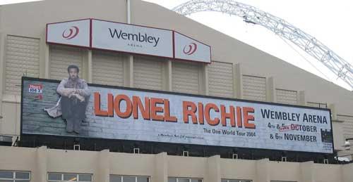 Wembley Arena - Lionel Richie Billboard