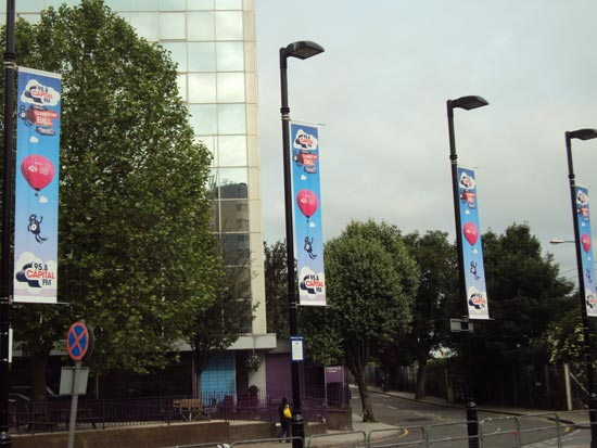 Capital Summertime Ball - Lamppost Pennants