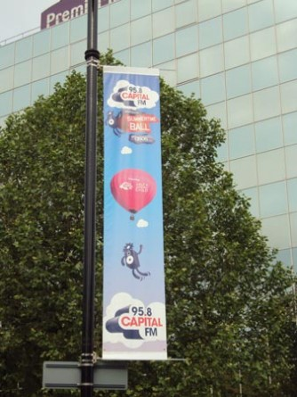 Capital Summertime Ball - Lamppost Banners