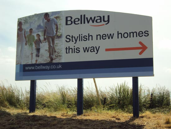 Construction Hoardings - Bellway- Rushden Fields