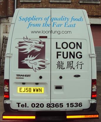 Vehicle Graphics - Loon Fung Transit Van