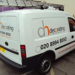 Vauxhall Combo Van Graphics - DH Decorating