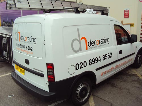Van amp Vehicle Graphics In Chiswick DH Decorating