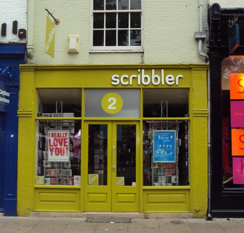 Scribbler Shop Sign, Cambridge
