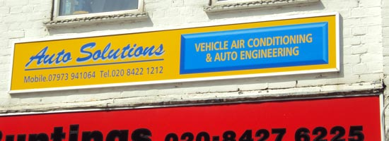 Dibond Fascia for Auto Solutions in Harrow