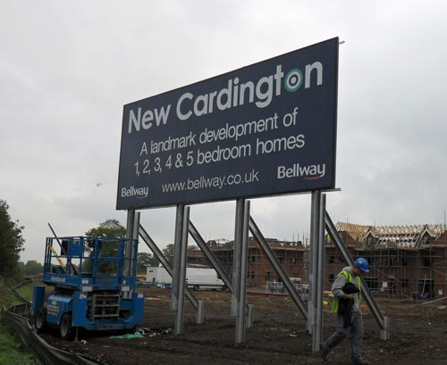 Billboard - Construction Sign For Bellway Development in Bedfordshire