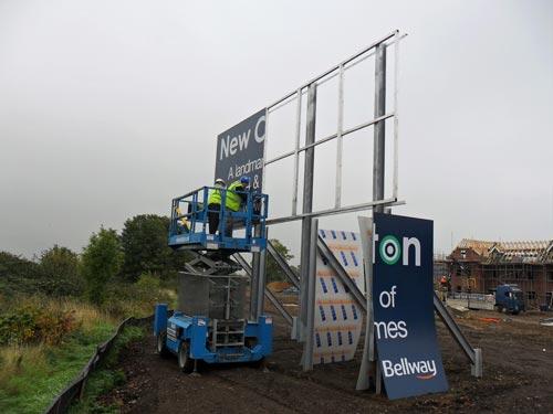 Billboard Construction Sign
