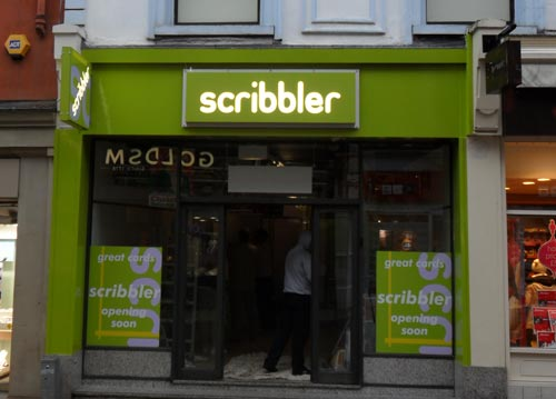 Illuminated Shop Sign - Scribbler Leeds