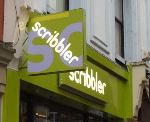 Shop Signs and Wall Decorations For New Scribbler Branch In Leeds