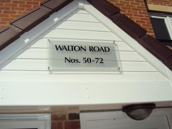 Address Plaque - Address Sign for Bellway Block of Flats - Bushey