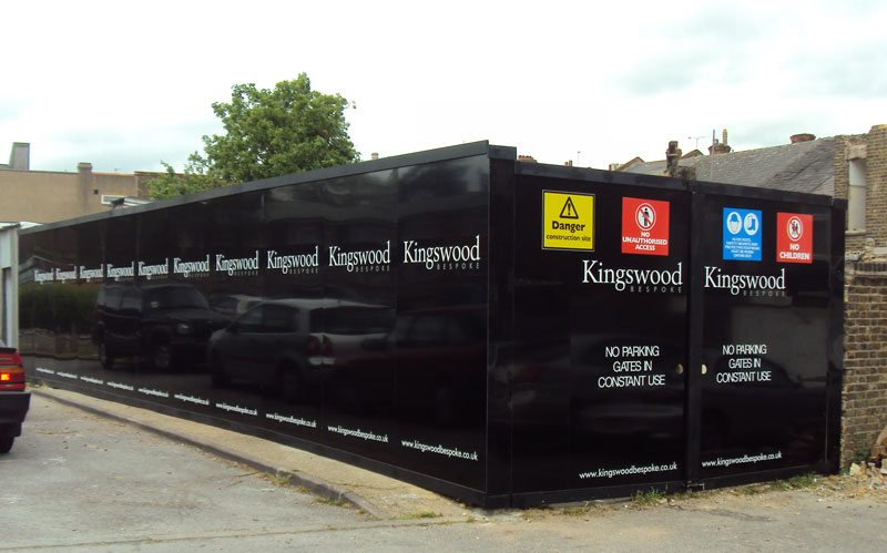 Construction Hoardings London – Kingswood Bespoke in Hendon