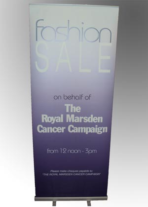Pull-Up Banner Wembley - Charity Fashion Sale