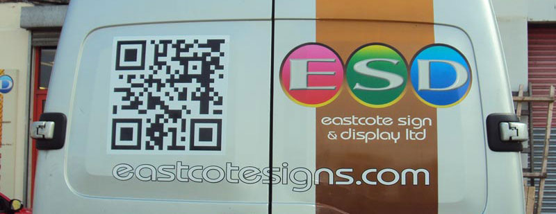 QR Code Vehicle Graphics - Detail