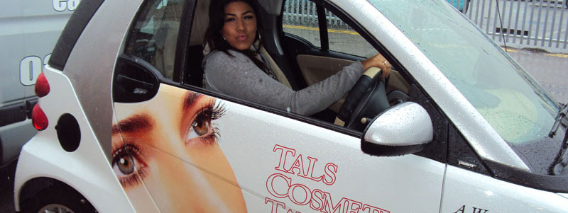 Smart Car Vehicle Graphics London - Tal's Cosmetic Tattooing