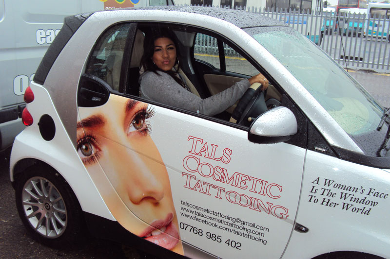 Smart Car Vinyl Graphics London