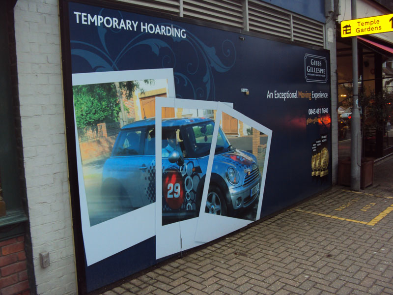 Temporary Shopfront Hoarding London - Gerrards Cross