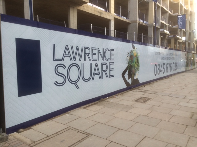Construction Hoardings in Lawrence Square