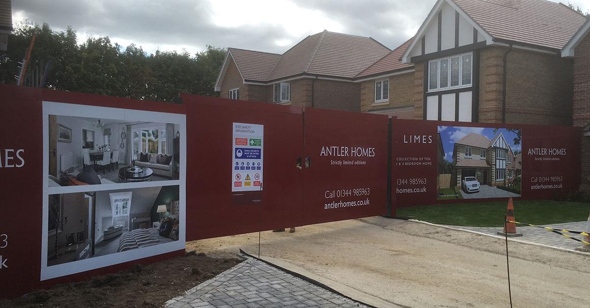 Construction Hoardings for Antler Homes in  Ascot